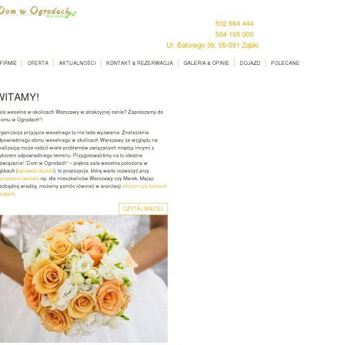 Sala weselna w warszawie w Zielonce