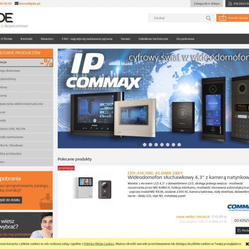 Wideodomofony jednoabonentowe commax ceny