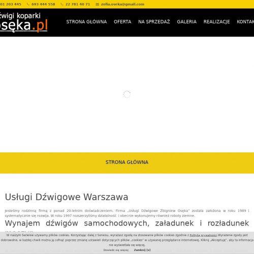 Dźwigi wynajem w Warszawie