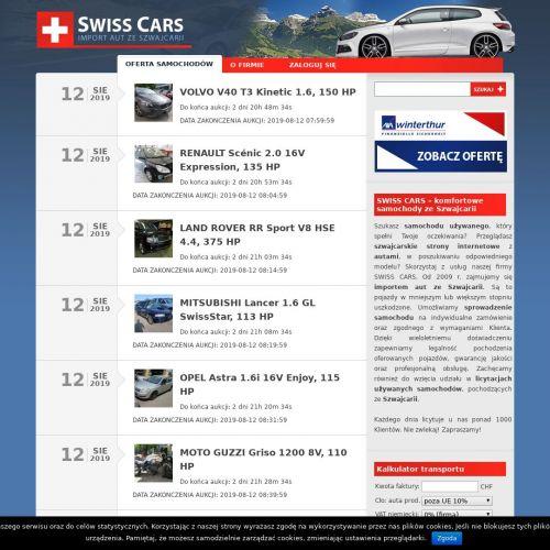 Auta ze szwajcarii ogłoszenia