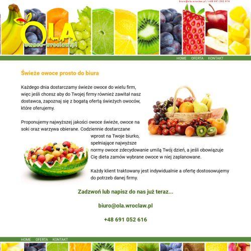 Dowóz owoców do firmy w Wrocławiu