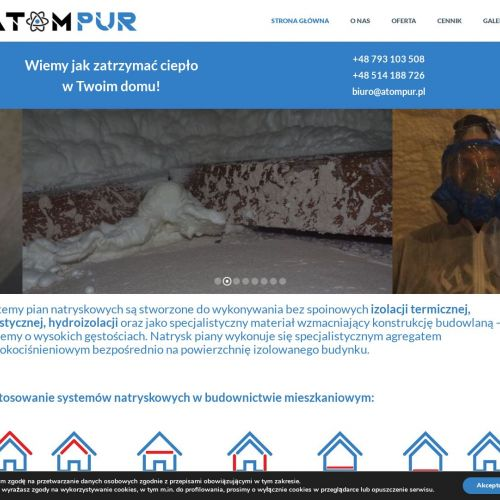 Izolacje dachu pianą Toruń