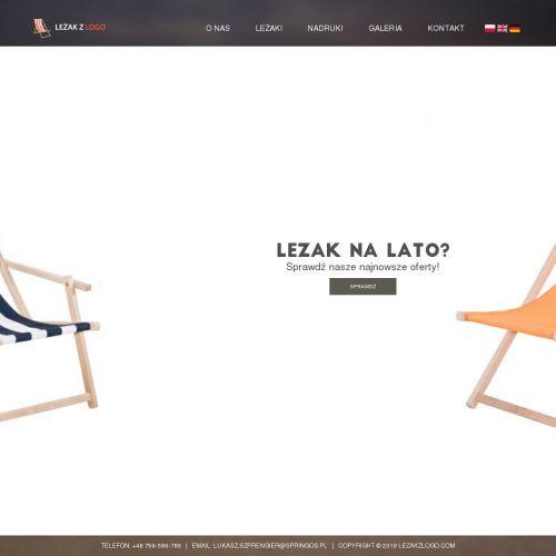 Leżaki reklamowe cena - Kraków
