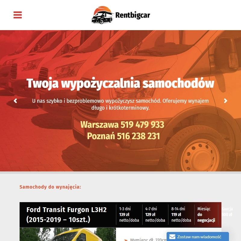 Wynajem bus osobowy - Warszawa