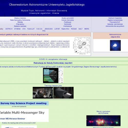 Studia podyplomowe astronomia - Kraków