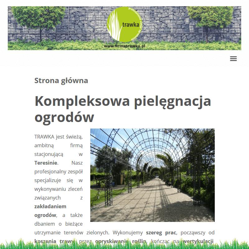 Zakładanie ogrodów teresin w Grodzisku Mazowieckim