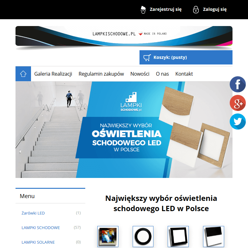 Oświetlenie schodów sklep internetowy w Lublinie