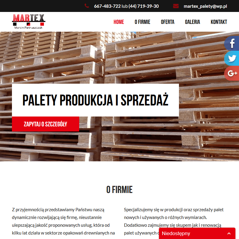 Cena euro palet - Wrocław