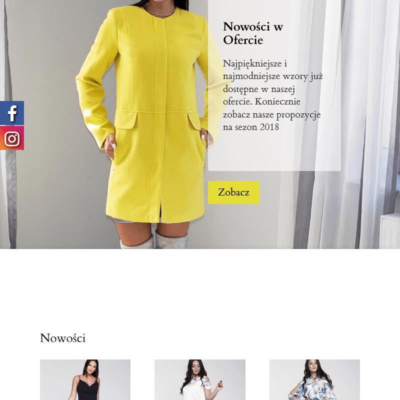 Sukienka duże rozmiary polski producent